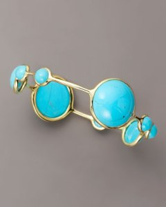 Nine stone turquoise bangle by Ippolita