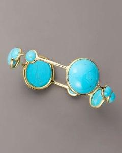 Nine stone turquoise bangle by Ippolita