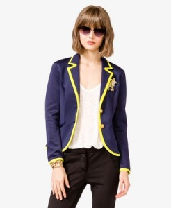 Nautical Neon Trim Blazer from Forever21
