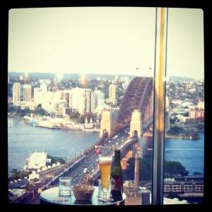 What a view! drinks at Blu Horizon @ Shangri La
