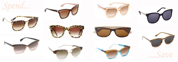 Top: Prada, Marc by Marc Jacobs Middle: Dita, TThierry Lasry, Ray Ban, Kate Spade Bottom: Alexander McQueen, Stella McCartney, Sherrif&Cherry, Cheap Monday