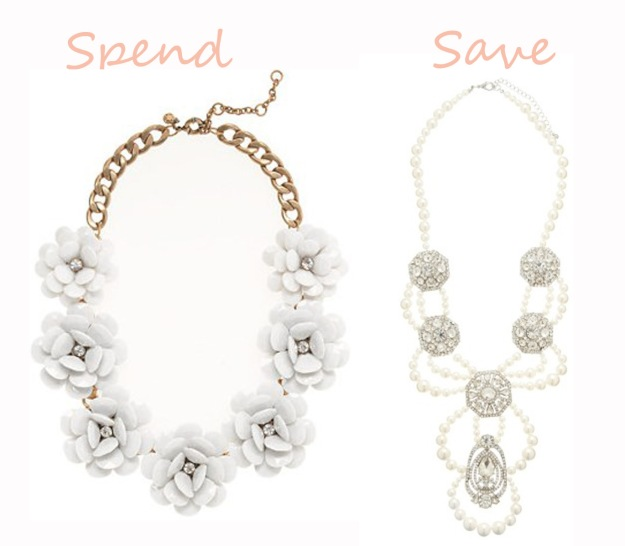 Spend and Save necklace